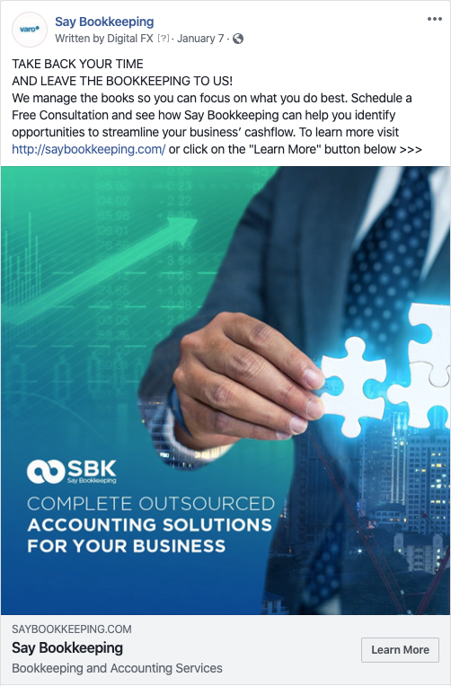 Say Bookkeeping Banner Ads